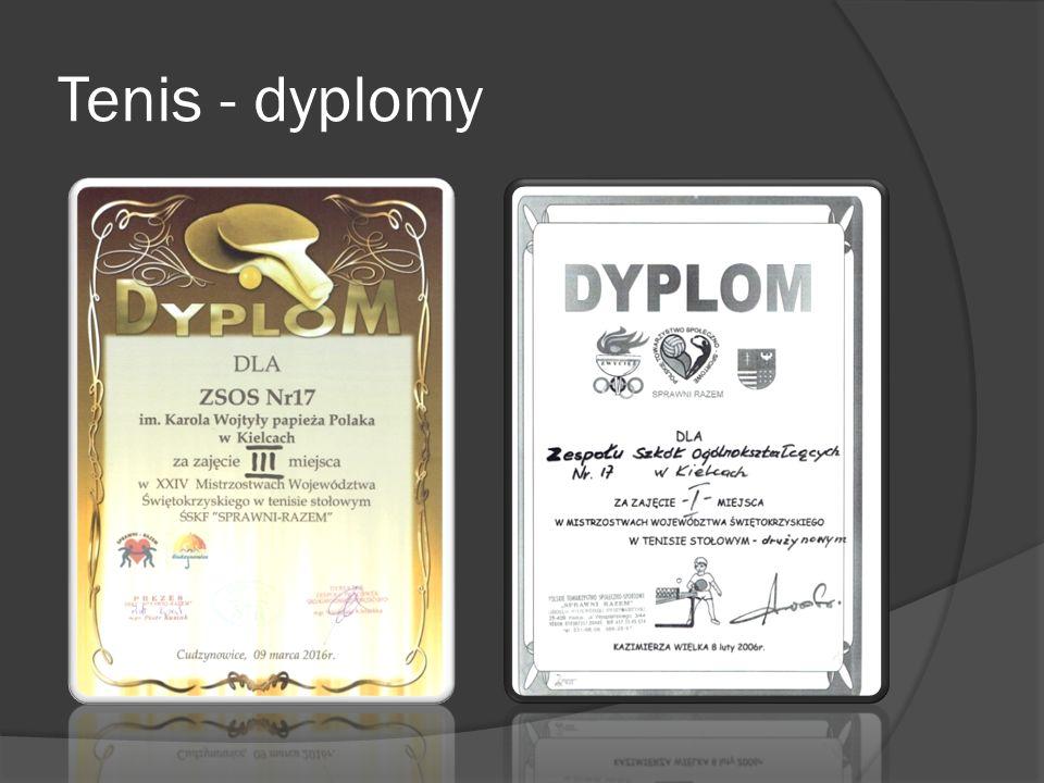 Tenis - dyplomy