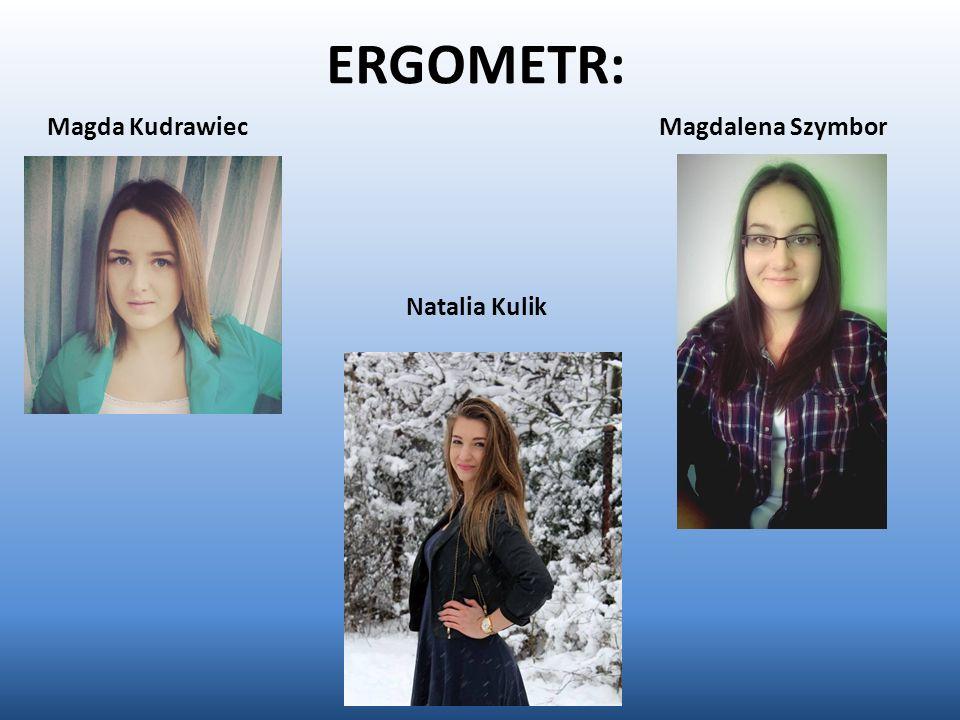 ERGOMETR: Magda Kudrawiec Natalia Kulik Magdalena Szymbor