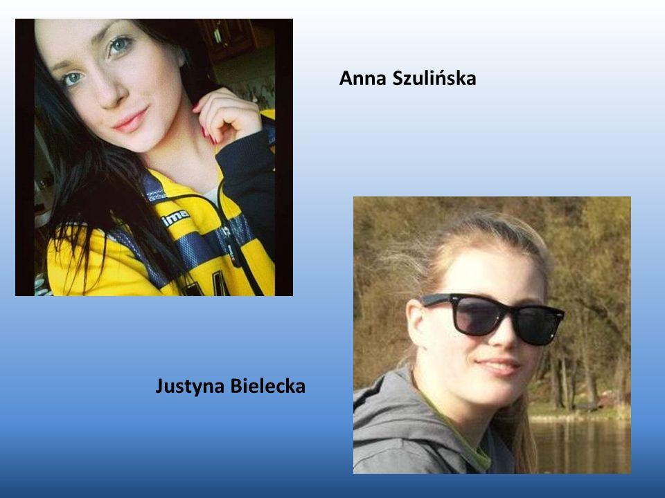 Anna Szulińska Justyna Bielecka