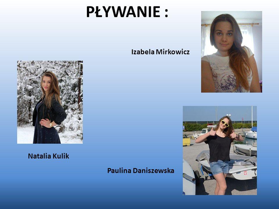PŁYWANIE : Natalia Kulik Izabela Mirkowicz Paulina Daniszewska
