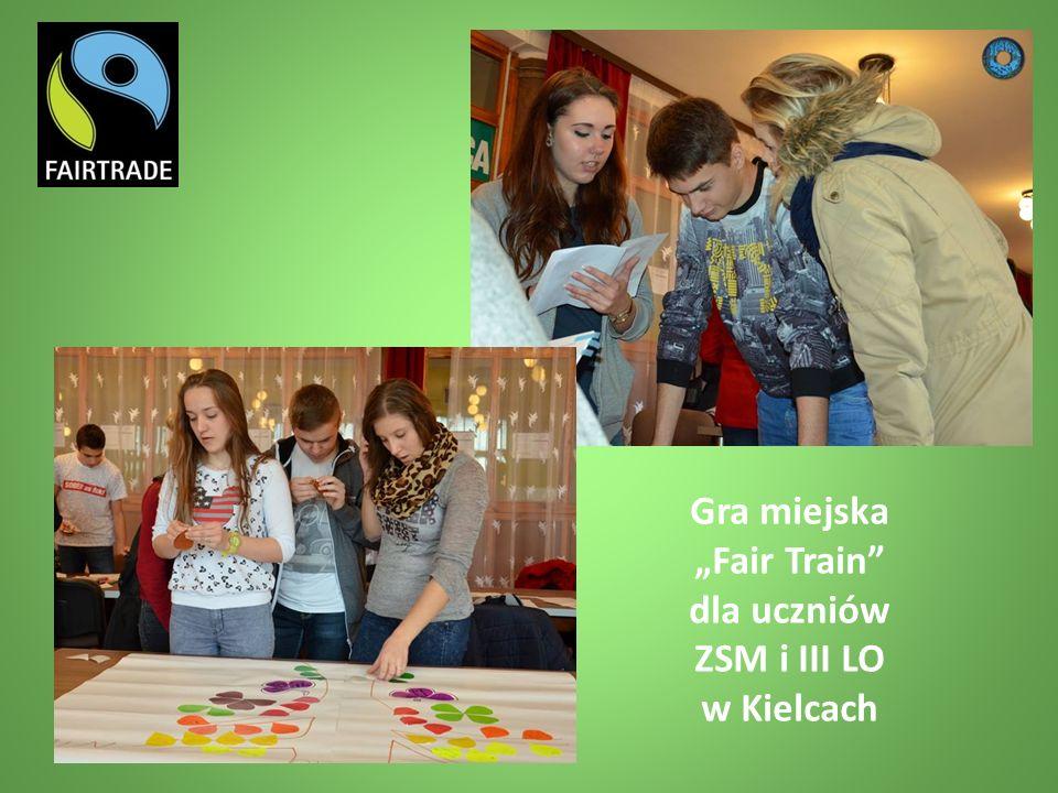"""Gra miejska """"Fair Train dla uczniów ZSM i III LO w Kielcach"""