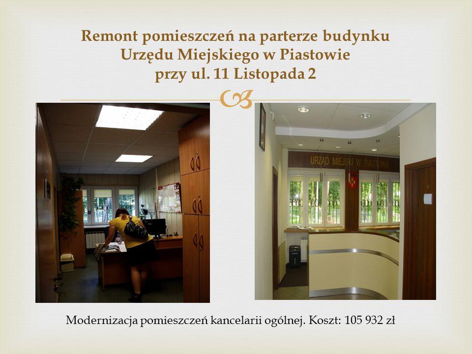  Remont pomieszczeń na parterze budynku Urzędu Miejskiego w Piastowie przy ul.