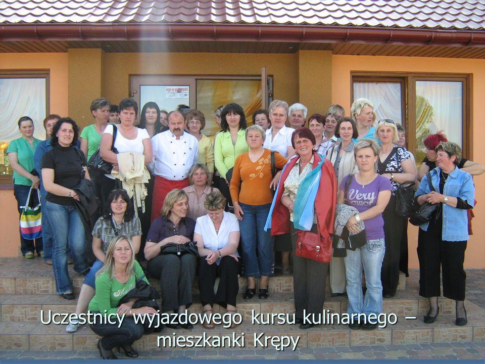 Uczestnicy wyjazdowego kursu kulinarnego – mieszkanki Krępy