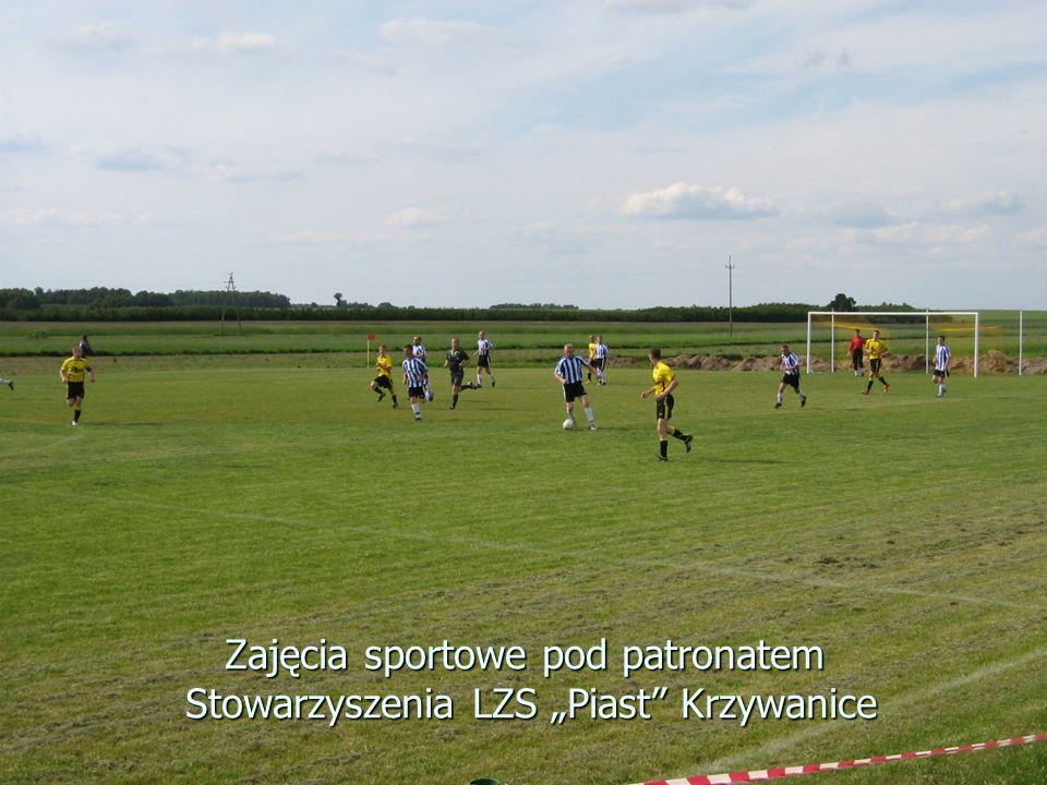 """Zajęcia sportowe pod patronatem Stowarzyszenia LZS """"Piast"""" Krzywanice"""