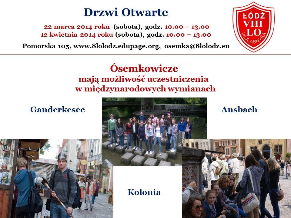 Kolonia Ósemkowicze mają możliwość uczestniczenia w międzynarodowych wymianach Drzwi Otwarte 22 marca 2014 roku (sobota), godz.