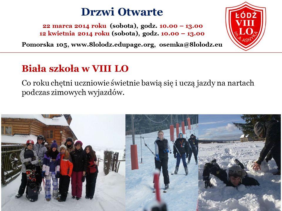 Biała szkoła w VIII LO Co roku chętni uczniowie świetnie bawią się i uczą jazdy na nartach podczas zimowych wyjazdów.