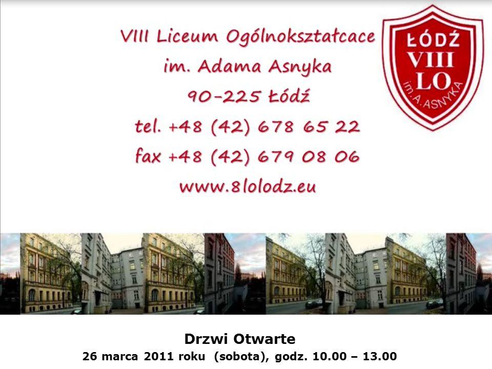 Drzwi Otwarte 26 marca 2011 roku (sobota), godz. 10.00 – 13.00