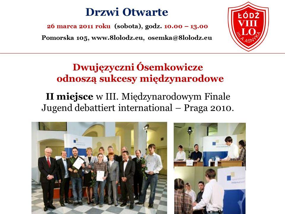 II miejsce w III. Międzynarodowym Finale Jugend debattiert international – Praga 2010.
