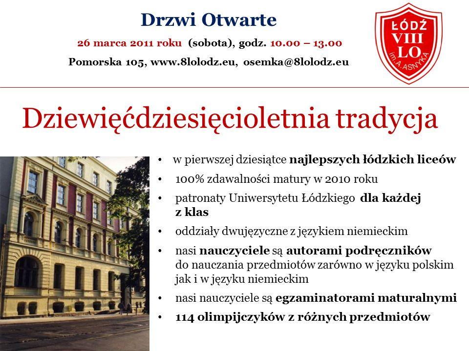 Drzwi Otwarte 26 marca 2011 roku (sobota), godz.