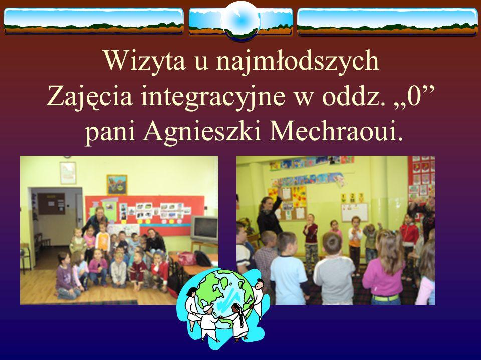 """Wizyta u najmłodszych Zajęcia integracyjne w oddz. """"0"""" pani Agnieszki Mechraoui."""