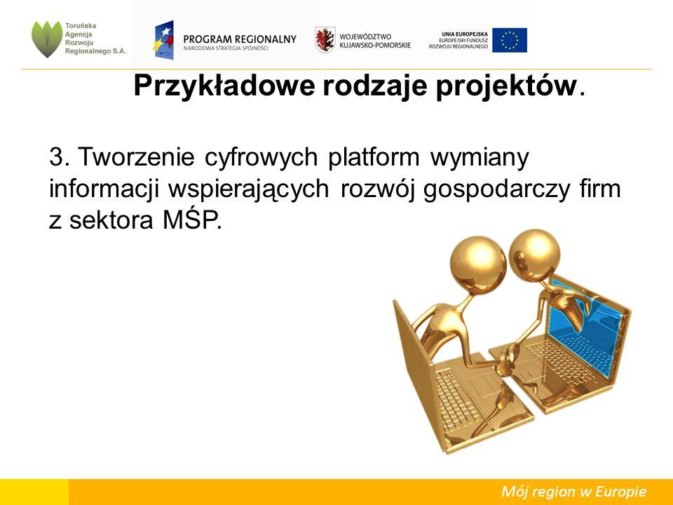 Mój region w Europie Przykładowe rodzaje projektów.