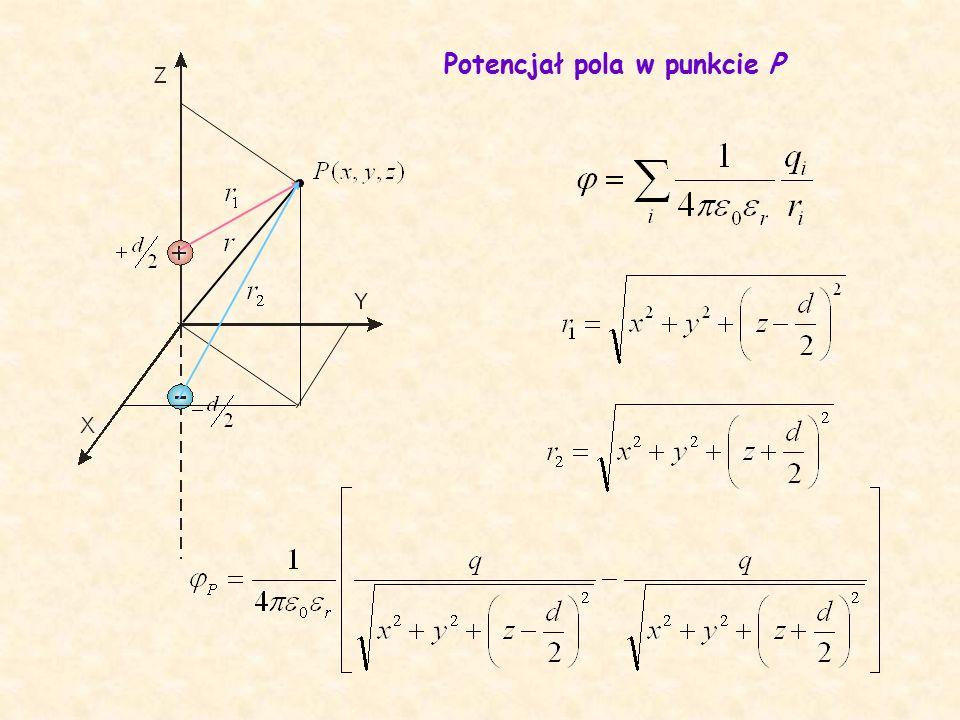Potencjał pola w punkcie P