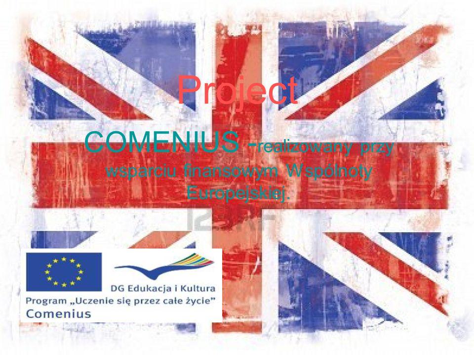 Project COMENIUS - realizowany przy wsparciu finansowym Wspólnoty Europejskiej.