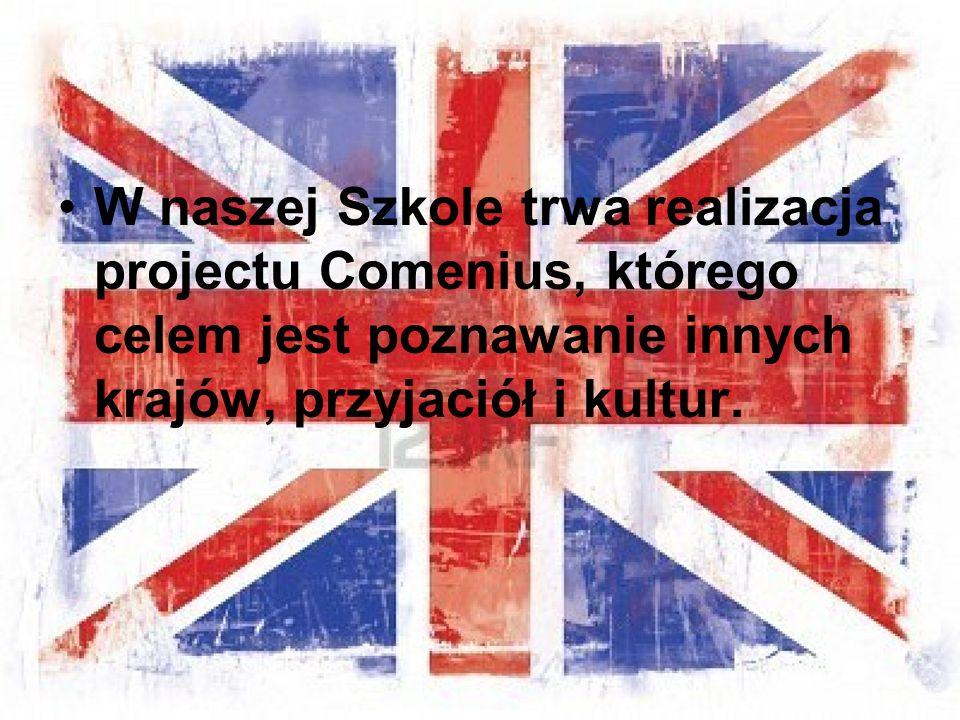 W naszej Szkole trwa realizacja projectu Comenius, którego celem jest poznawanie innych krajów, przyjaciół i kultur.