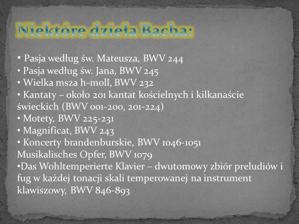 Pasja według św. Mateusza, BWV 244 Pasja według św.