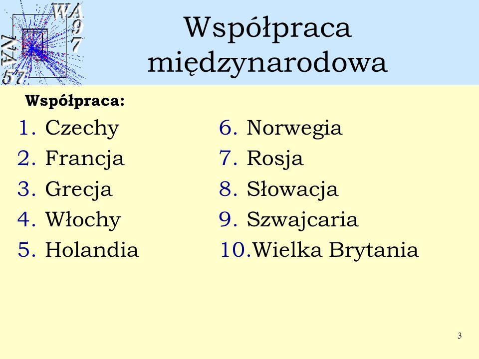 3 Współpraca międzynarodowa 1.Czechy 2.Francja 3.Grecja 4.Włochy 5.Holandia 6.Norwegia 7.Rosja 8.Słowacja 9.Szwajcaria 10.Wielka Brytania Współpraca: