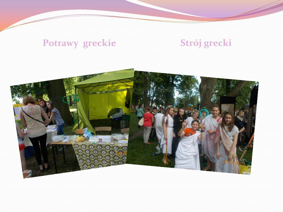 Temat przewodni- Grecja Z Grecją związane były różne konkursy i zabawy, takie jak: Konkurs na najpiękniejszy strój grecki, potrawę, projekt o Grecji.