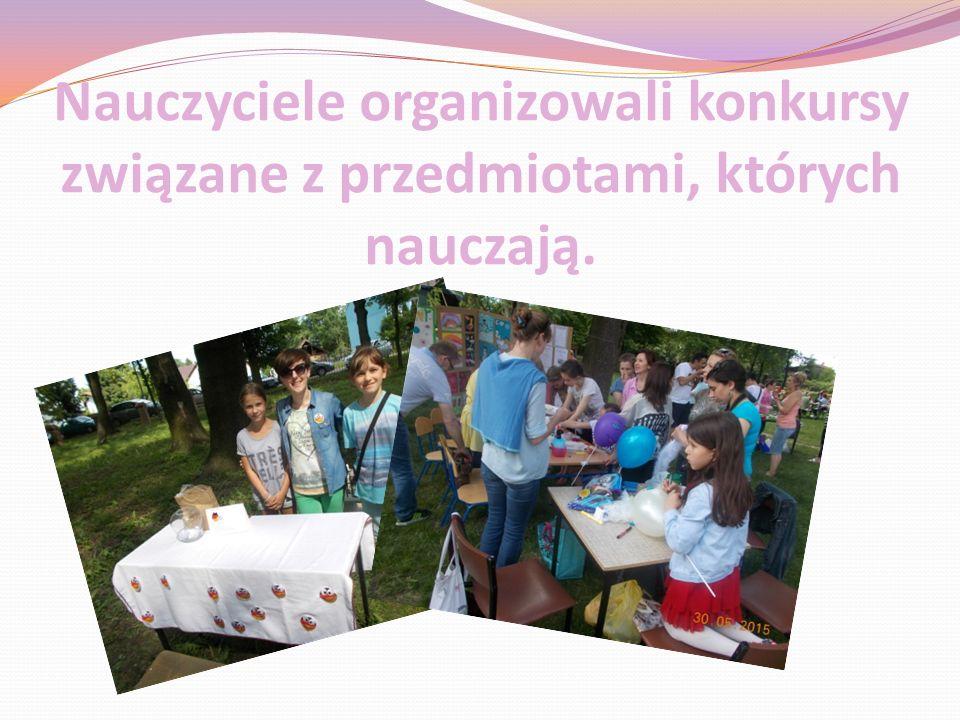 Nauczyciele organizowali konkursy związane z przedmiotami, których nauczają.