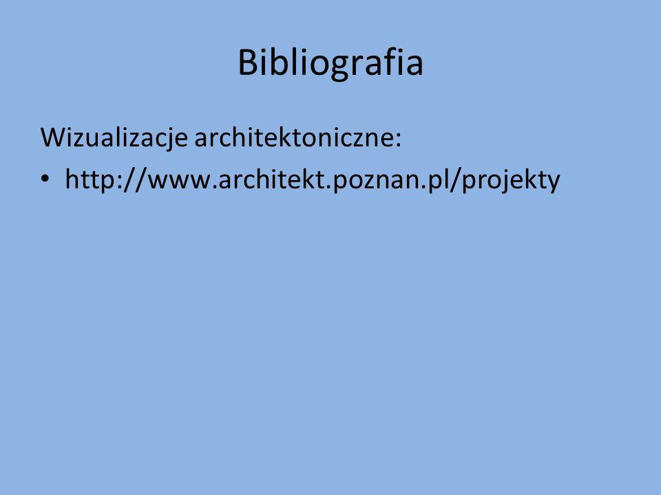 Bibliografia Wizualizacje architektoniczne: http://www.architekt.poznan.pl/projekty
