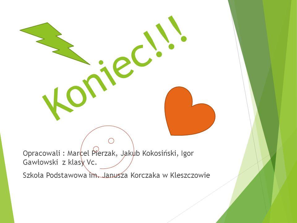 Koniec!!.Opracowali : Marcel Pierzak, Jakub Kokosiński, Igor Gawłowski z klasy Vc.