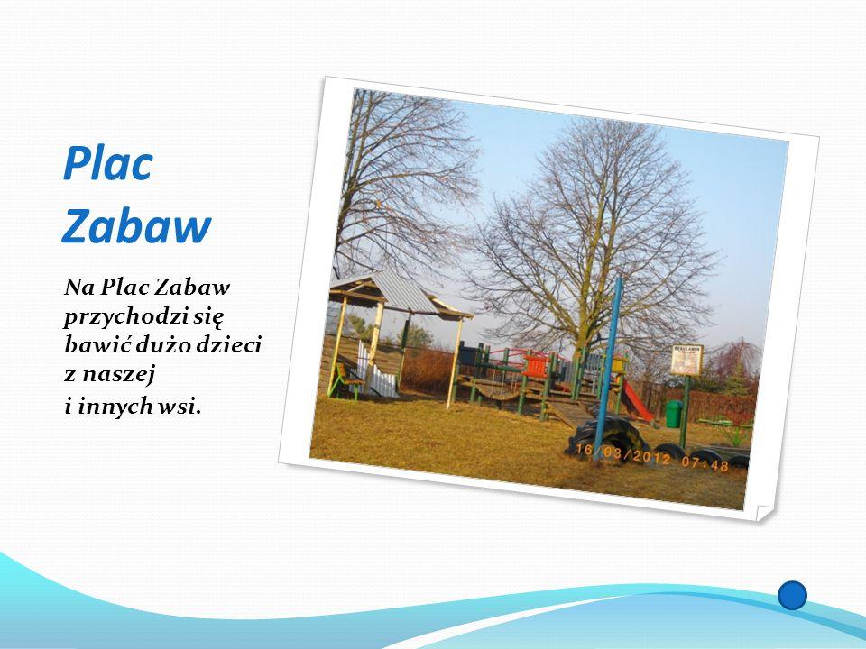 Plac Zabaw Na Plac Zabaw przychodzi się bawić dużo dzieci z naszej i innych wsi.