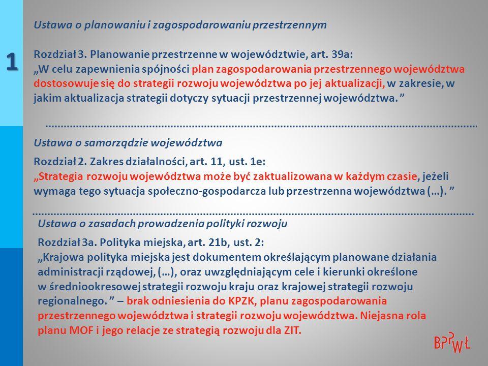 Przyjęcie zasady, że podstawowym dokumentem uzgadnianym z samorządem województwa w zakresie ładu przestrzennego jest studium.