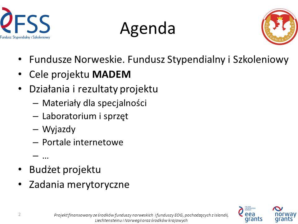 Projekt finansowany ze środków funduszy norweskich i funduszy EOG, pochodzących z Islandii, Liechtensteinu i Norwegii oraz środków krajowych Agenda Fu