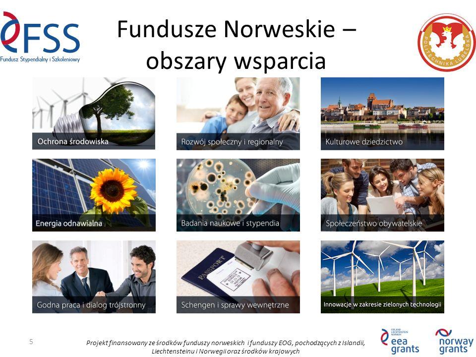 Projekt finansowany ze środków funduszy norweskich i funduszy EOG, pochodzących z Islandii, Liechtensteinu i Norwegii oraz środków krajowych Fundusze