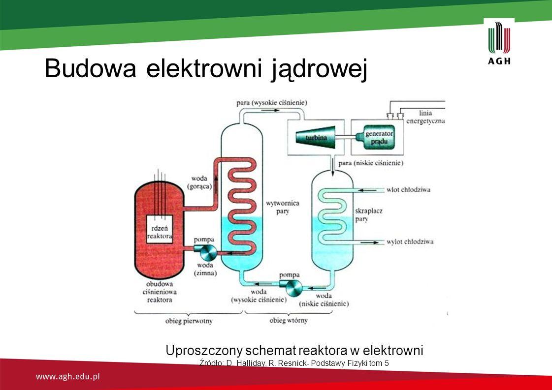 Budowa elektrowni jądrowej Uproszczony schemat reaktora w elektrowni Źródło: D.