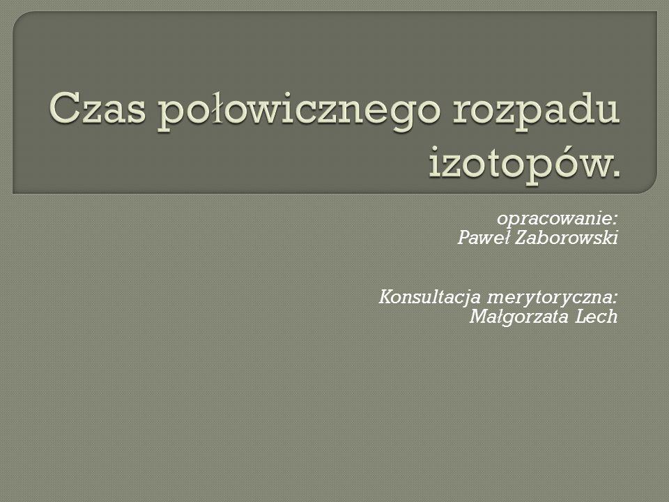 opracowanie: Pawe ł Zaborowski Konsultacja merytoryczna: Ma ł gorzata Lech