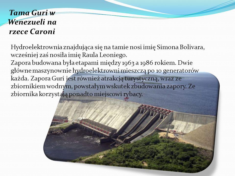 Hydroelektrownia znajdująca się na tamie nosi imię Simona Bolivara, wcześniej zaś nosiła imię Raula Leoniego. Zapora budowana była etapami między 1963