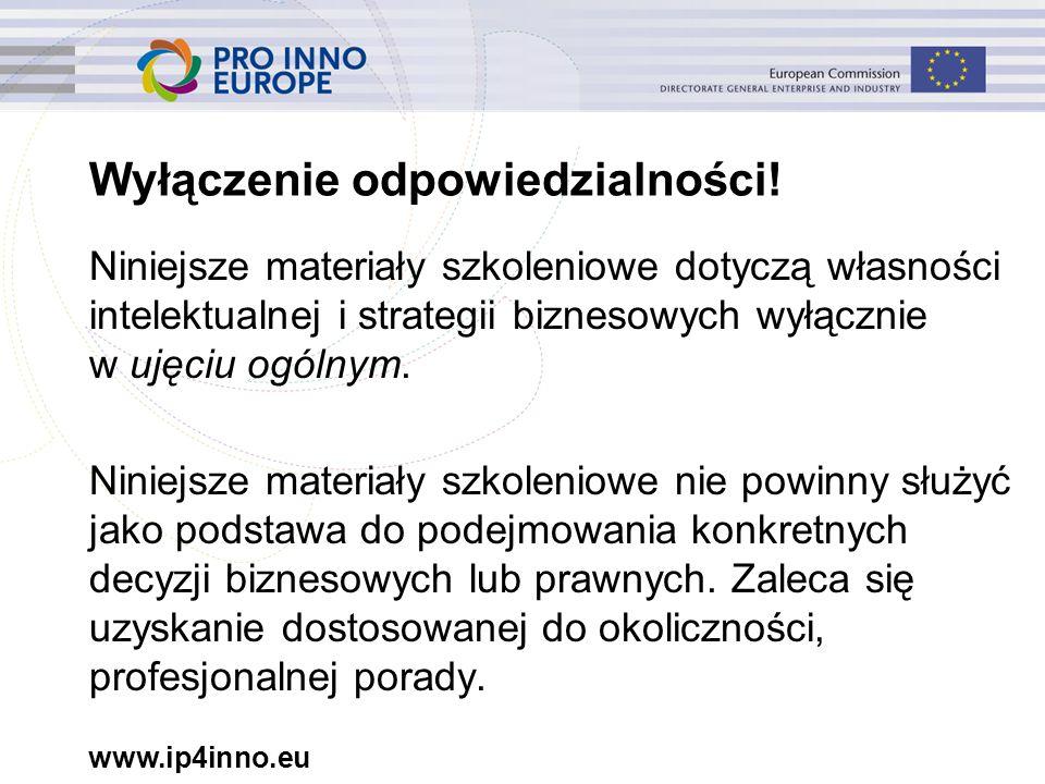 www.ip4inno.eu 14 Zarejestrowane wzory Wzory OHIM 271416-0001,-0002,-0003,-0004