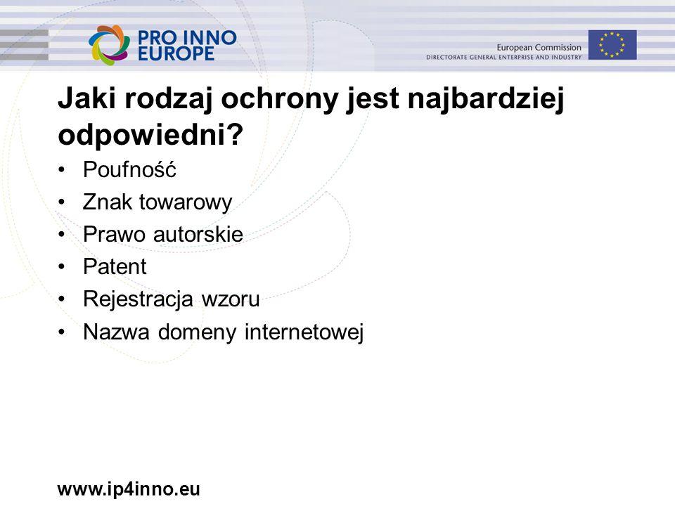www.ip4inno.eu Jaki rodzaj ochrony jest najbardziej odpowiedni.