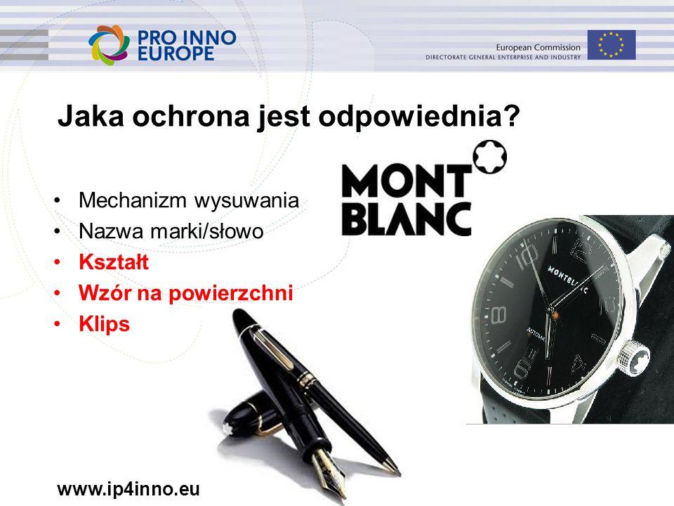 www.ip4inno.eu 10 Jaką ochronę obejmuje prawo do wzoru.