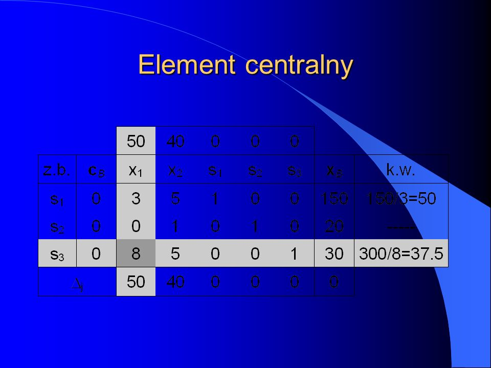 Element centralny