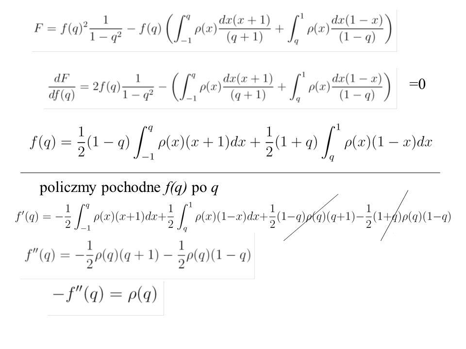 =0 policzmy pochodne f(q) po q