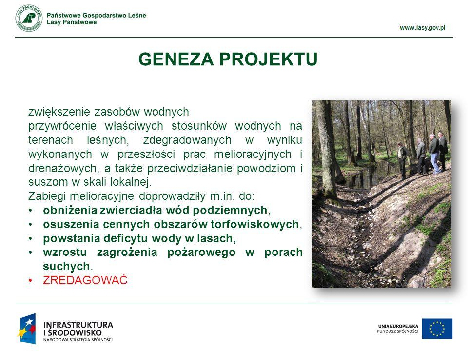 www.ckps.lasy.gov.pl 235 obiektów małej retencji zretencjonowano 3,3 mln m 3 wody – prawie 10% wody zretencjonowanej w ramach projektu małej retencji nizinnej wartość zrealizowanego projektu wyniosła 3,55 mln zł Dodać pasek lub 2-3 zdjecia REALIZACJA PROJEKTU