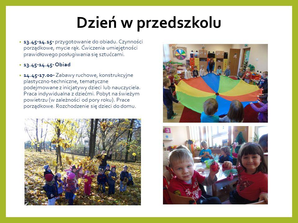 Dzień w przedszkolu 13.45-14.15- przygotowanie do obiadu.