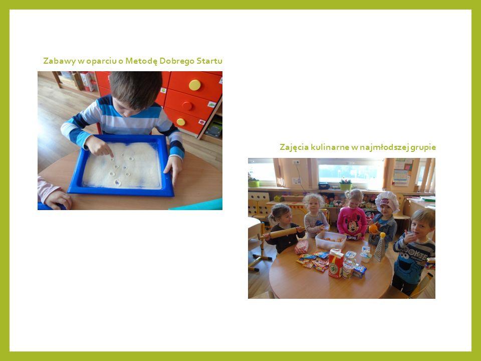 Zajęcia kulinarne w najmłodszej grupie Zabawy w oparciu o Metodę Dobrego Startu
