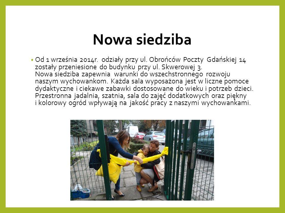 Nowa siedziba Od 1 września 2014r. odziały przy ul.