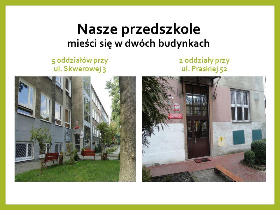 Nasze przedszkole mieści się w dwóch budynkach 5 oddziałów przy ul.