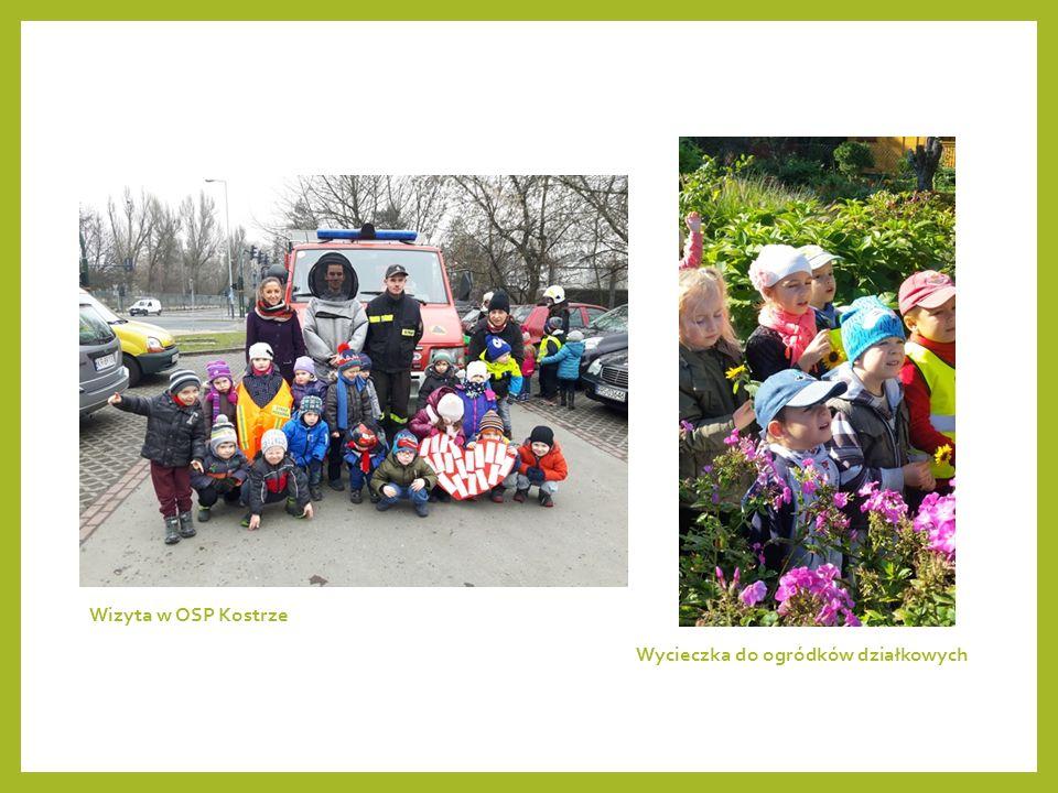 Wycieczka do ogródków działkowych Wizyta w OSP Kostrze