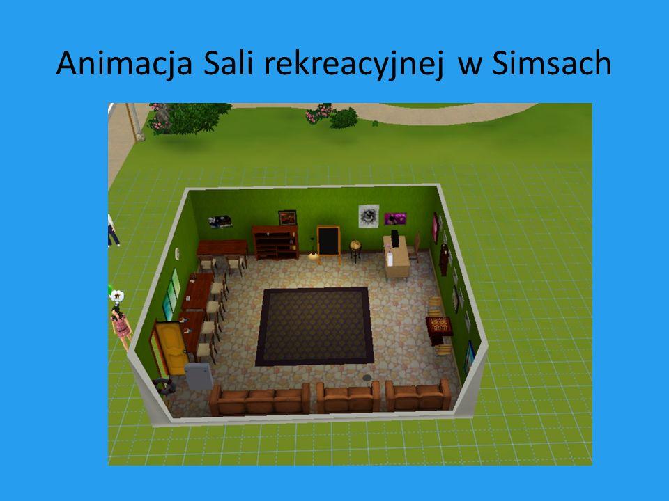 Animacja Sali rekreacyjnej w Simsach