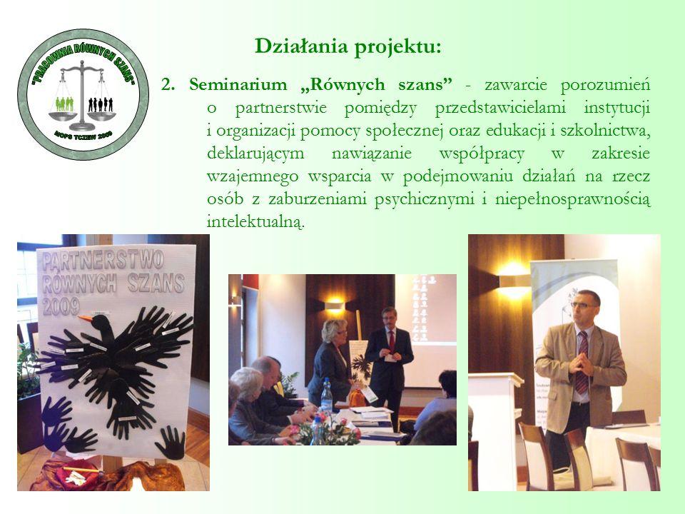 """2. Seminarium """"Równych szans"""" - zawarcie porozumień o partnerstwie pomiędzy przedstawicielami instytucji i organizacji pomocy społecznej oraz edukacji"""