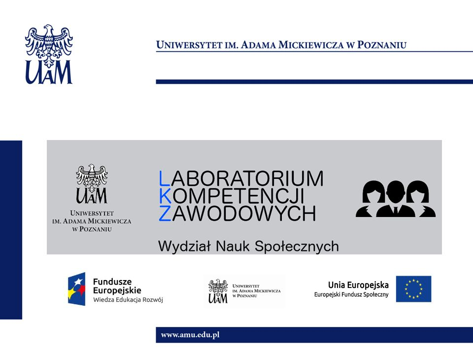 Cele projektu CELE GŁÓWNE  Poszerzenie w iedzy o zjawiskach społecznych i interpersonalnych  Rozwój kompetencji interpersonalnych i intrapsychicznych  Nabycie umiejętności posługiwania się nowoczesnymi programami informatycznymi i cyfrowymi  Poszerzenie umiejętności analizy danych jakościowych FORMY i SPOSOBY  zajęcia treningowe i warsztatowe w grupach interdyscyplinarnych  laboratoria  praca metodą projektu  wizyty studyjne, spotkania z praktykami
