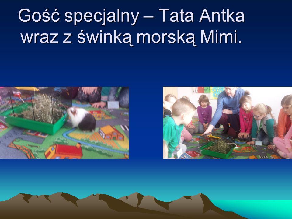 Gość specjalny – Tata Antka wraz z świnką morską Mimi.