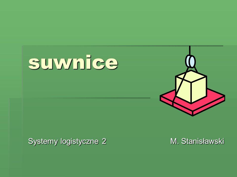 suwnice Systemy logistyczne 2 M. Stanisławski