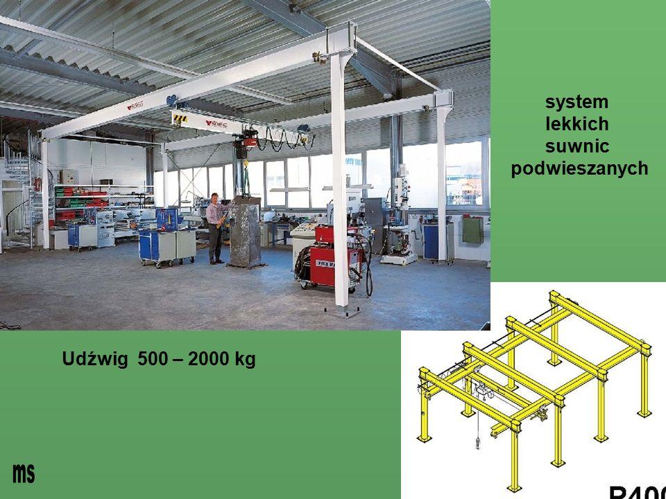- system lekkich suwnic podwieszanych Udźwig 500 – 2000 kg