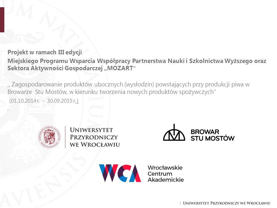 """Projekt w ramach III edycji Miejskiego Programu Wsparcia Współpracy Partnerstwa Nauki i Szkolnictwa Wyższego oraz Sektora Aktywności Gospodarczej """"MOZ"""