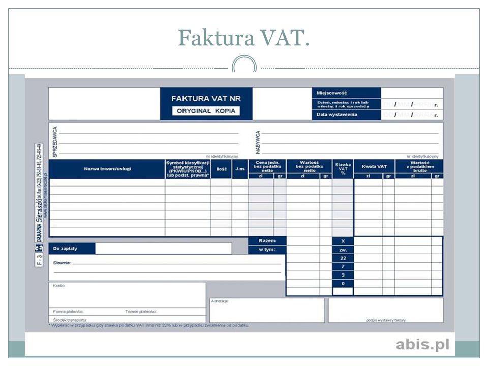Faktura VAT.